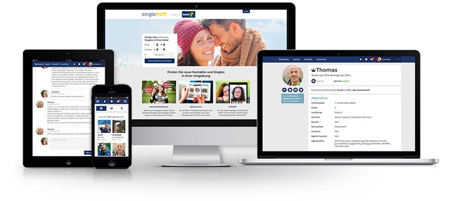 Desktop oder mobil - überall verlieben.
