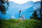 Alleinerziehende Mutter mit Tochter
